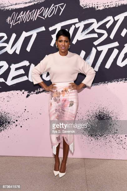 Journalist Tamron Hall poses during Glamour Celebrates 2017 Women Of The Year Live Summit at Brooklyn Museum on November 13 2017 in New York City