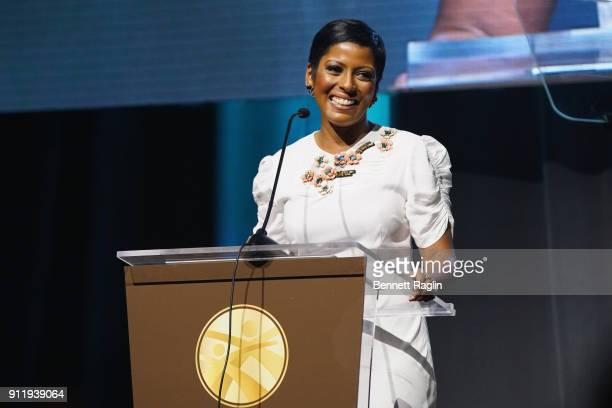 Journalist Tamron Hall speaks onstage at the National CARES Mentoring Movement's third annual For The Love Of Our Children Gala on January 29 2018 in...