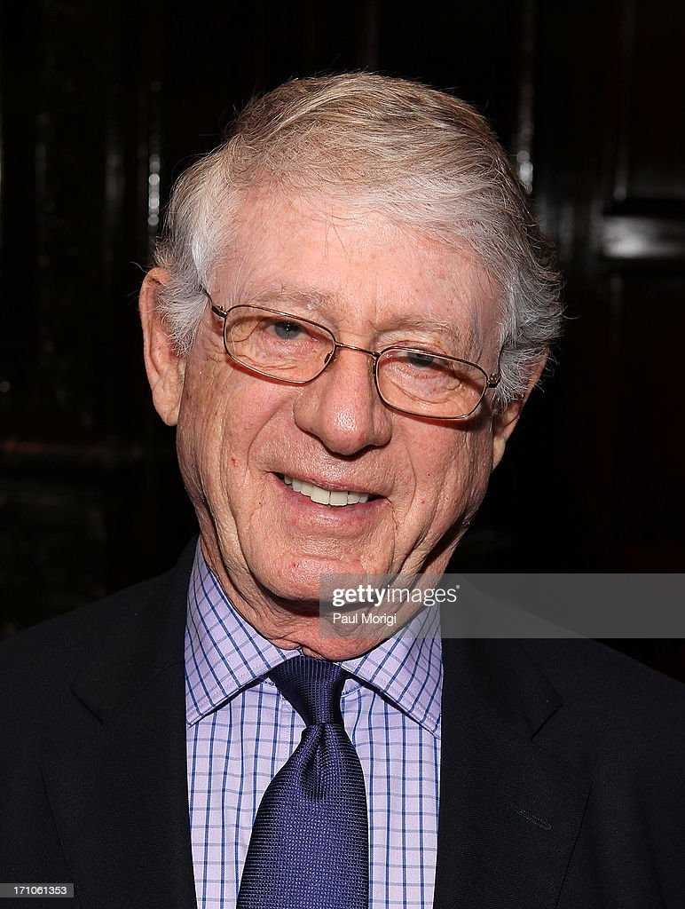 Journalist Ted Koppel arrives at the American News Women's Club 2013 Gala Award luncheon at The National Press Club on June 21, 2013 in Washington, DC.