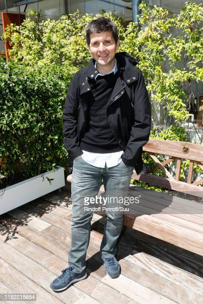 Journalist Thomas Sotto attends the 'France Television' Lunch during the 2019 French Tennis Open - Day Three at Roland Garros on May 28, 2019 in...