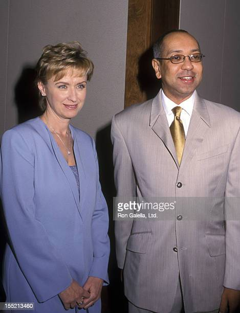 Journalist Tina Brown and George C Wolfe attend 11th Annual New York Shakespeare Festival on March 13 2000 at Pier 60 at Chelsea Piers in New York...