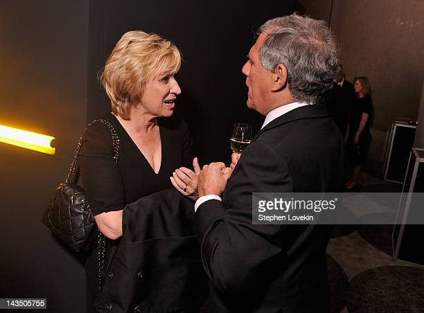 Journalist Tina Brown and President and Chief Executive Officer of CBS Corporation Leslie Moonves attend Google Hollywood Reporter Host an Evening...