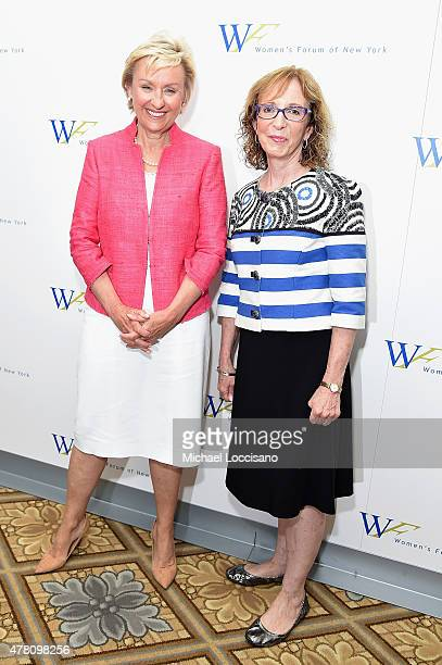 Journalist Tina Brown and Sarah Frank attend the 5th Annual Elly Awards hosted by the Women's Forum of New York honoring Tina Brown Emily Rafferty at...