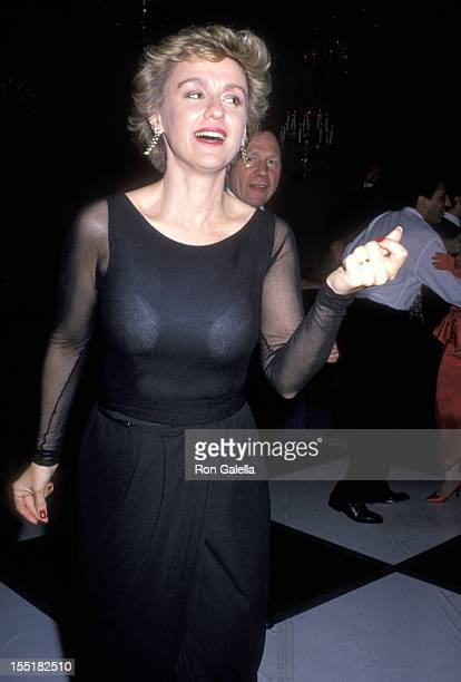 Journalist Tina Brown attends Just Say Yes Benefit for Pheonix House on March 22 1990 at Culver Studios in Culver City California