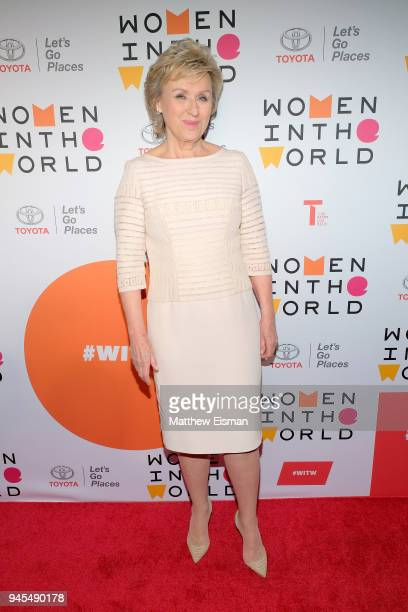 Journalist Tina Brown attends the 2018 Women In The World Summit at Lincoln Center on April 12 2018 in New York City