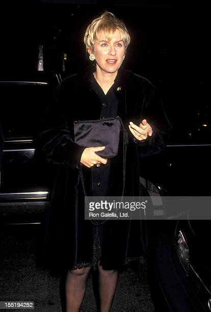 Journalist Tina Brown attends the party for Grace Coddington on November 4 1993 at Spring Street Studio in New York City