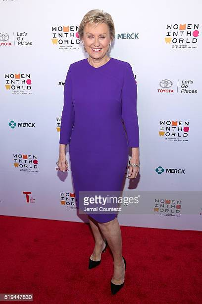 Journalist Tina Brown attends Tina Brown's 7th Annual Women In The World Summit Opening Night at David H Koch Theater at Lincoln Center on April 6...