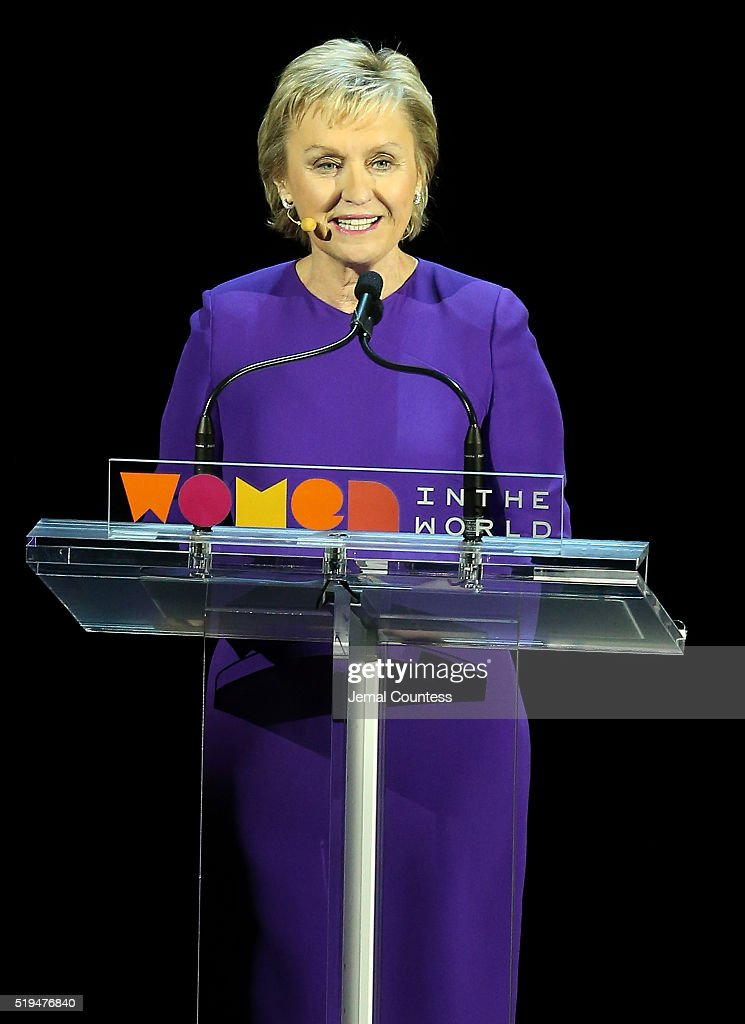 Journalist Tina Brown speaks onstage at the 7th Annual Women In The World Summit Opening Night at David H. Koch Theater at Lincoln Center on April 6, 2016 in New York City.