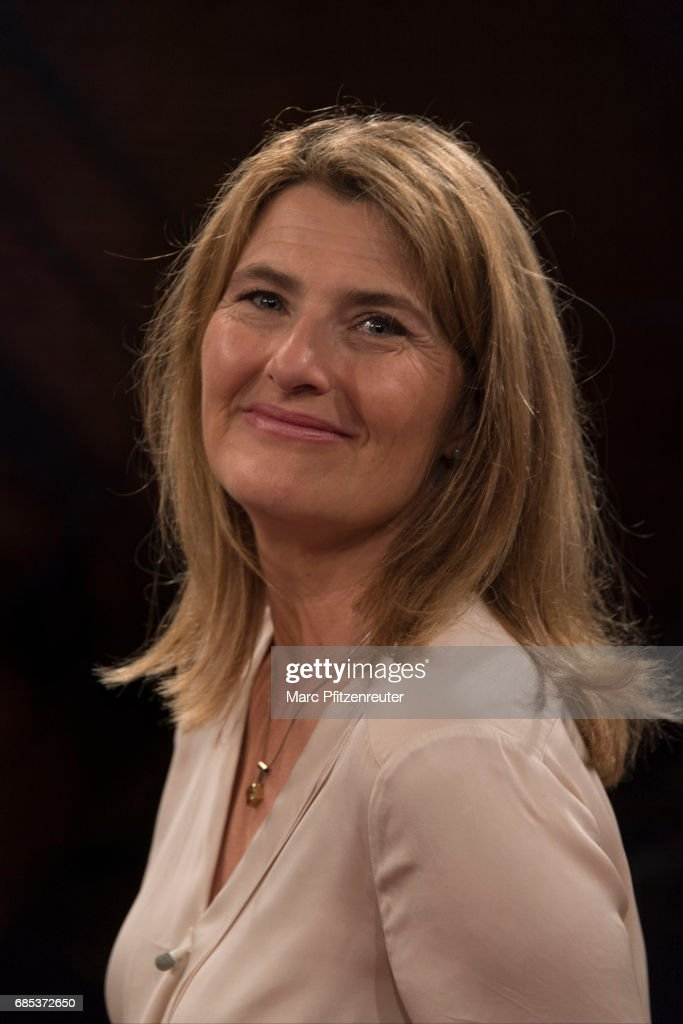 TV journalist Tina Hassel attends the 'Koelner Treff' TV Show at the WDR Studio on May 19, 2017 in Cologne, Germany.