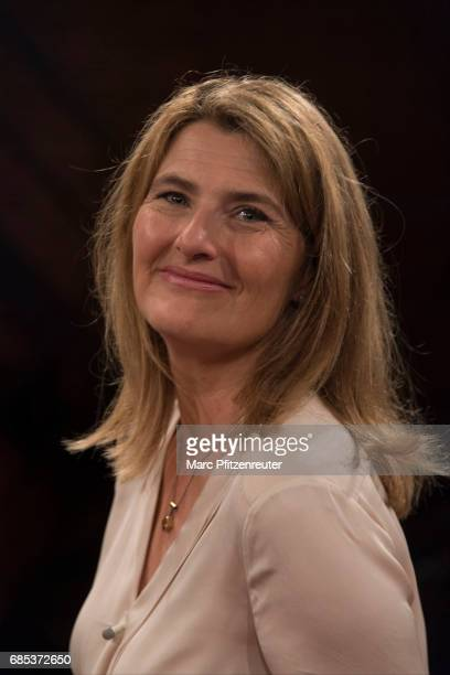 TV journalist Tina Hassel attends the 'Koelner Treff' TV Show at the WDR Studio on May 19 2017 in Cologne Germany