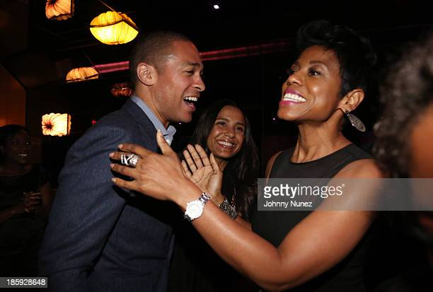 Journalist TJ Holmes Marilee FiebigHolmes and TV personality Jacque Reid attend the 2013 Black Girls Rock Shot Caller Dinner at B Co on October 25...
