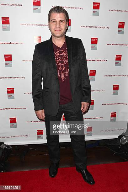 Journalist Tom Murro attends the Bottomless Closet fall 2012 fashion show during MercedesBenz Fashion Week at the Empire Hotel on February 16 2012 in...