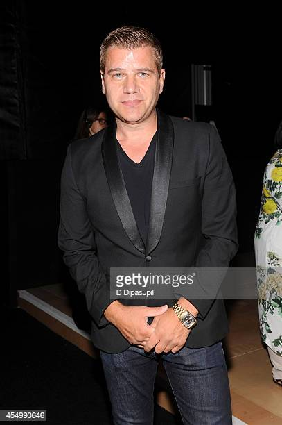 Journalist Tom Murro attends the Reem Acra fashion show during MercedesBenz Fashion Week Spring 2015 at The Salon at Lincoln Center on September 8...