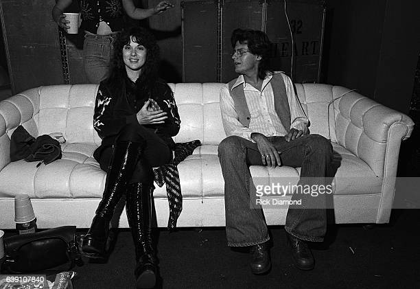 Journalist Tony Paris and Ann Wilson of Rock group Heart backstage at The Omni Coliseum in Atlanta Georgia September 28 1978