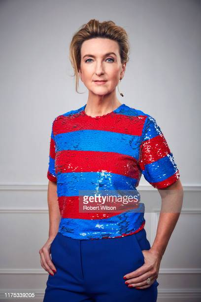 Journalist tv presenter and broadcaster Victoria Derbyshire is photographed for the Times magazine on April 17 2019 in London England