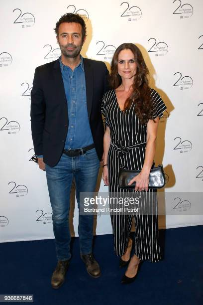 Journalist Victor Robert and actress Carole Dechantre attend the 2018 L'Oreal UNESCO for Women in Science Awards Ceremony at UNESCO on March 22 2018...