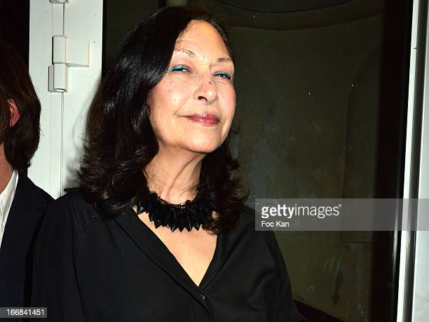 Journalist Vix Foster attends 'Les Racines De La Ville' Aramy Machry' s Photo Exhibition Preview At 'Le Plac Art' Gallery on April 17 2013 in Paris...