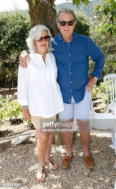 Journalist William Leymergie and his wife Marie attend the lunch at Jacqueline Franjou's house as part of the 30th Ramatuelle Festival on August 8...