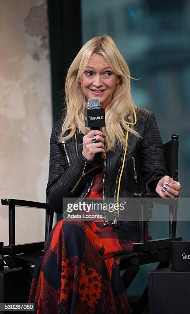 Journalist Zanna Roberts Rassi discusses Celebrate Working Mothers With Alicia Ybarboat at AOL Studios In New York on May 10 2016 in New York City