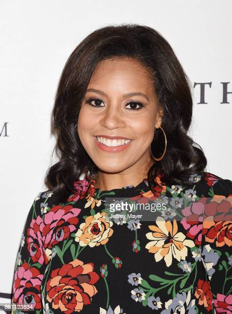 Journalist/anchor Sheinelle Jones arrives at the Variety's Power Of Women Los Angeles at the Beverly Wilshire Four Seasons Hotel on October 13 2017...