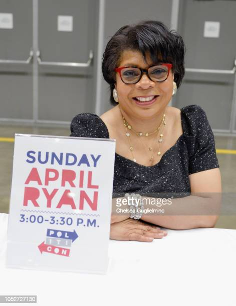 Journalist/author April Ryan attends Politicon 2018 at Los Angeles Convention Center on October 21 2018 in Los Angeles California
