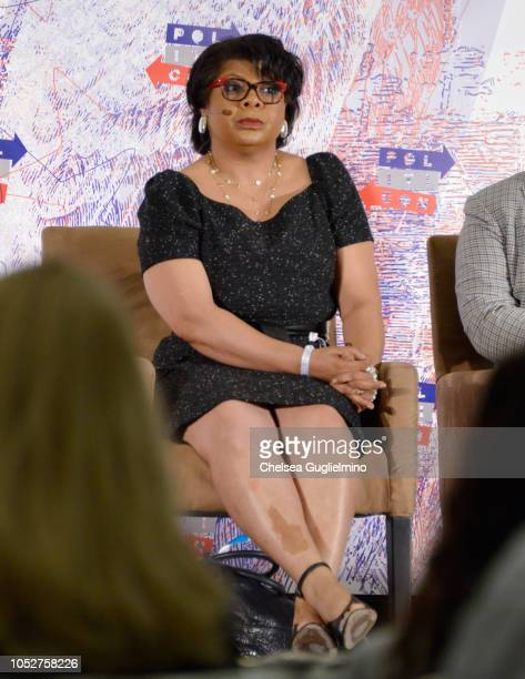 Journalist/author April Ryan speaks during Politicon 2018 at Los Angeles Convention Center on October 21 2018 in Los Angeles California