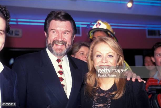 Journalist/Broadcaster Derryn Hinch with Jackie Weaver in Sydney