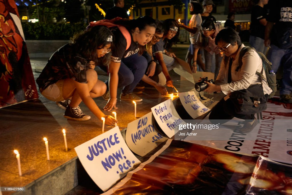 Vigil Held For Victims Of Ampatuan Massacre As Trial Verdict Approaches : News Photo