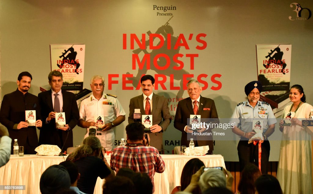 Launch Ceremony Of Book 'India's Most Fearless' : News Photo