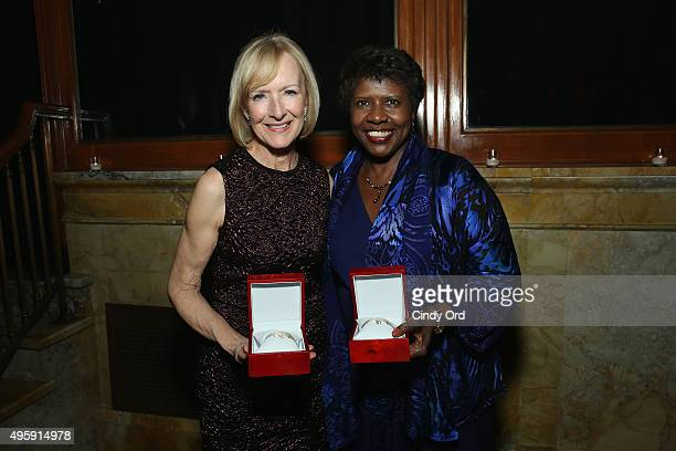 Journalists and honorees Judy Woodruff and Gwen Ifill attend The Women's Media Center 2015 Women's Media Awards on November 5 2015 in New York City