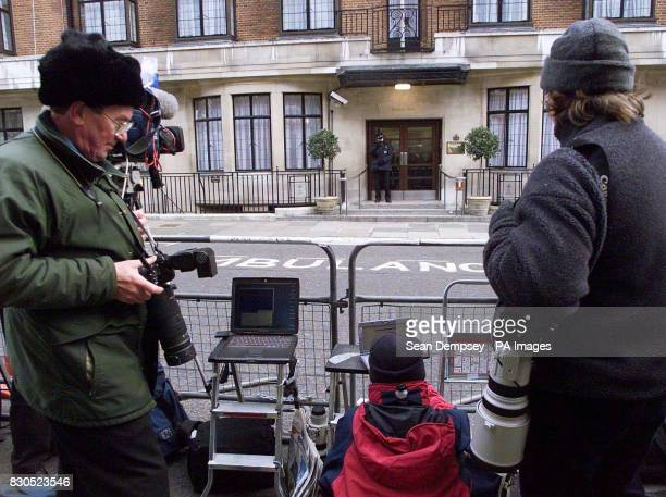 Journalists and photographers wait outside the King Edward VII Hospital for Officers in central London where Princess Margaret is receiving treatment...