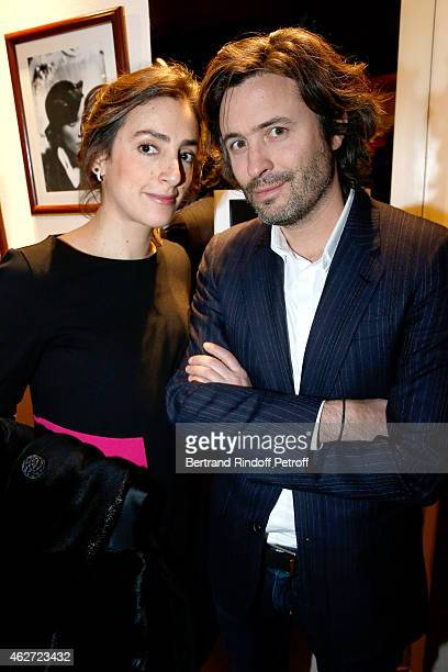 Journalists Anna Cabana and Christophe OnoditBiot attend the Private Screening of the Movie 'Tout Peut Arriver' at Mac Mahon Cinema on February 3...