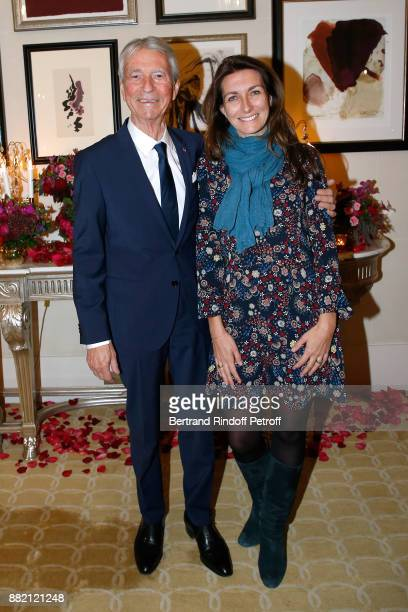 Journalists AnneClaire Coudray and his mentor JeanClaude Narcy attend the Charity Gala to Benefit the 'Princess Diya Kumari of Jaipur' Foundation...