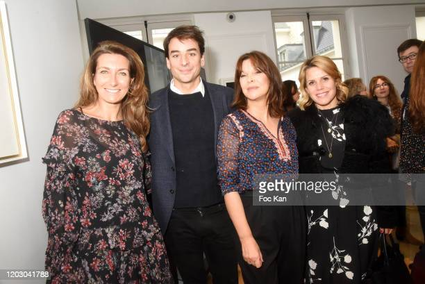 TV Journalists AnneClaire Coudray Julian Bugier Toutes a l'Ecole frounder Tina Kieffer and Laura Tenoudji attends the Levons Le Doigt Pour...