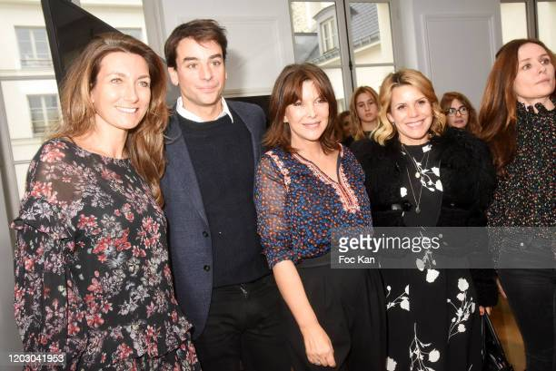 TV Journalists AnneClaire Coudray Julian Bugier Toutes a l'Ecole frounder Tina Kieffer Laura Tenoudji and PR Chupa Renié attend the Levons Le Doigt...
