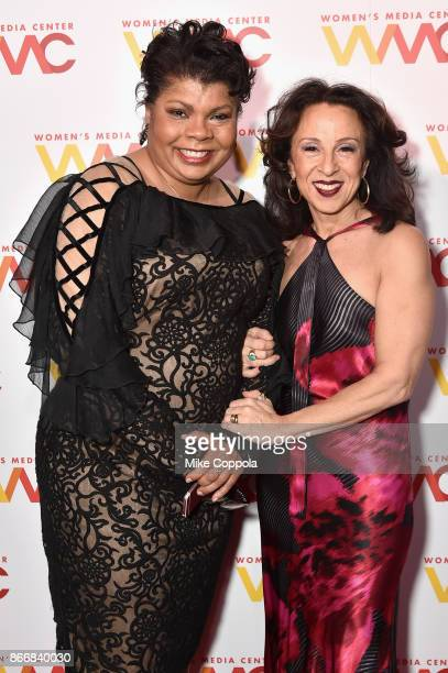 Journalists April Ryan and Maria Hinojosa attend the Women's Media Center 2017 Women's Media Awards at Capitale on October 26 2017 in New York City