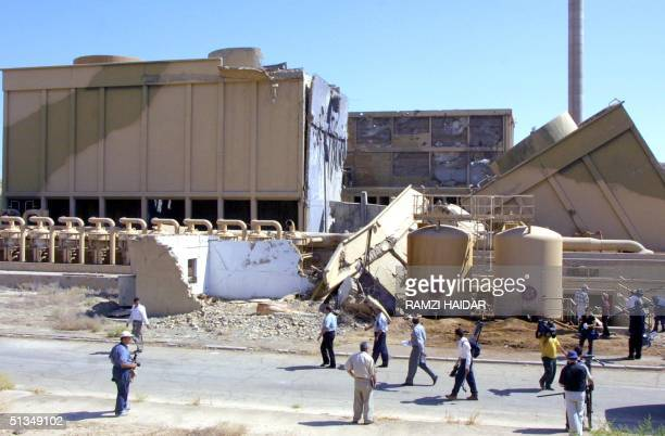 Journalists are shown the destroyed Tammuz Iraqi nuclear reactor bombed by Israel during an air raid in 1981 and hit again during the 1991 Gulf War...