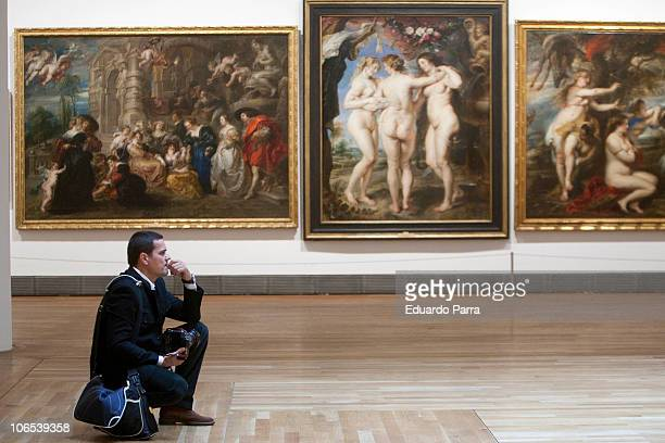 Journalists attend the press for the exhibition 'Rubens' at El Prado Museum on November 4 2010 in Madrid Spain