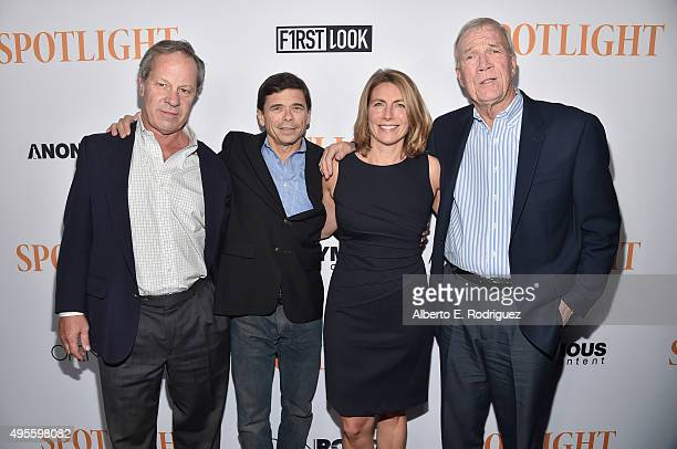 "Journalists Ben Bradlee, Jr., Michael Rezendes, Sacha Pfeiffer and Walter Robinson attend a special screening of Open Road Films' ""Spotlight"" at The..."