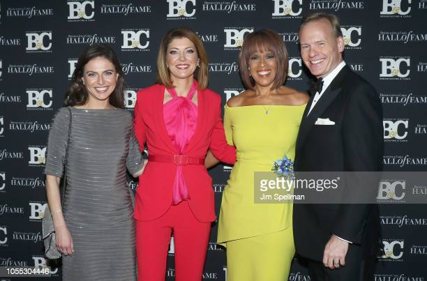 Journalists Bianna Golodryga Norah O'Donnell Gayle King and John Dickerson attend the 28th Annual Broadcasting and Cable Hall of Fame Awards at The...