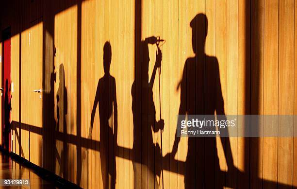 Journalists cast shadows at the county court of Hildesheim on November 2009 in Hildesheim Germany In 2004 Ernst August of Hannover was convicted in...