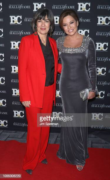 Journalists Christiane Amanpour and Robin Meade attend the 28th Annual Broadcasting and Cable Hall of Fame Awards at The Ziegfeld Ballroom on October...