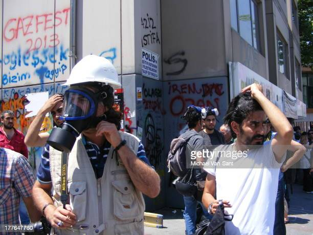 Journalists clash with Police Polis @ Taksim Square June 11th 2013 12:30 pm Taksim June 11th 2013 12:30 pm Istanbul gezipark gezi turkey taksim...