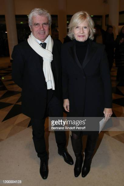 Journalists Claude Serillon and Catherine Ceylac attend the Exceptional performance of Dream Compagnie Julien Lestel at Salle Pleyel on January 16...