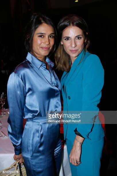 Journalists Emilie Tran Nguyen and Alice Darfeuille attend the GQ Men of the Year Awards 2017 at Le Trianon on November 15 2017 in Paris France