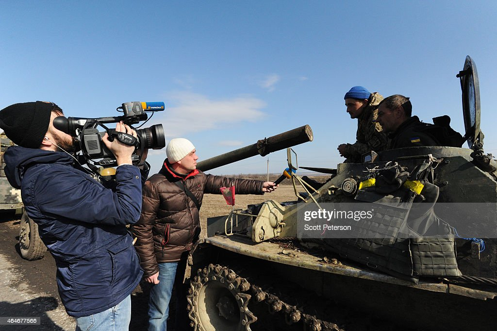 Ukrainian Military Continues Withdrawal From Positions In Eastern Ukraine : News Photo