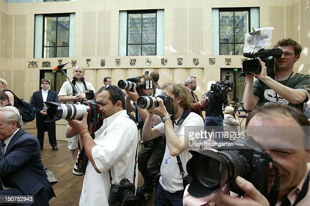 Journalists in the Bundesrat the Upper House of the German Parliament in Berlin
