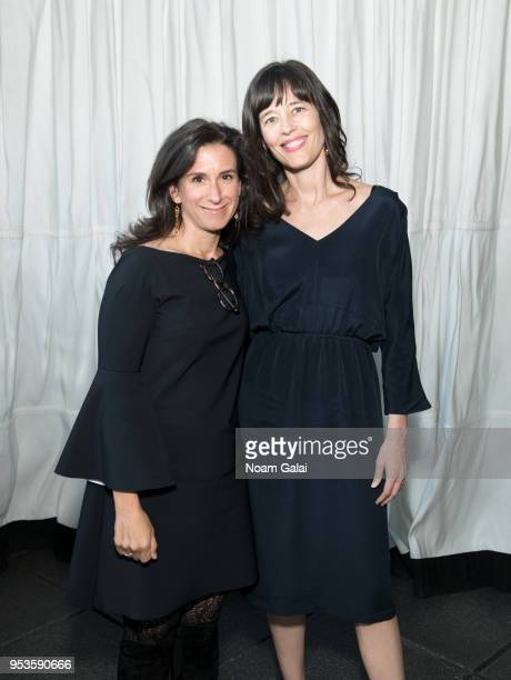 Journalists Jodi Kantor and Megan Twohey attend the Brilliant Minds Initiative dinner at Gramercy Park Hotel Rooftop on May 1 2018 in New York City
