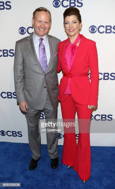 Journalists John Dickerson and Norah O'Donnell attend the 2018 CBS Upfront at The Plaza Hotel on May 16, 2018 in New York City.