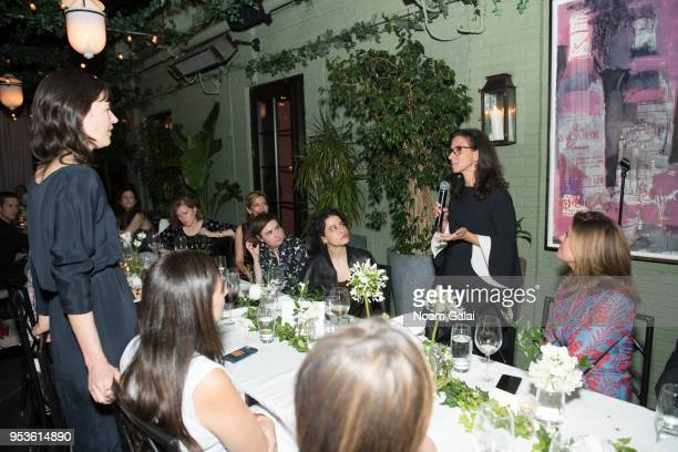 Journalists Megan Twohey and Jodi Kantor speak during the Brilliant Minds Initiative dinner at Gramercy Park Hotel Rooftop on May 1 2018 in New York...